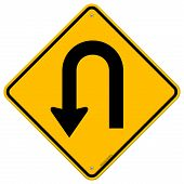 U-Turn Roadsign