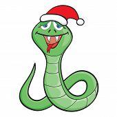 Cartoon Snake In A Cap