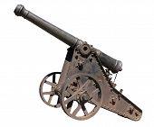 Isolated Old Gun