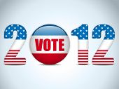 United States Election Vote Button Background.