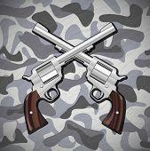 Crossed Revolvers