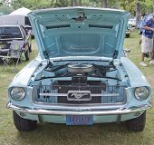 1967 Aqua Ford Mustang Front View