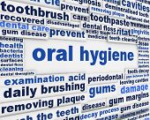 Oral hygiene slogan poster design