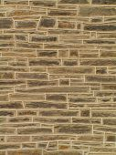 image of fieldstone-wall  - stone wall with flats - JPG