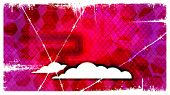 Abstract eps10 Retro Background with clouds.