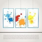 Art gallery wall for images and advertisement. Fully editable eps10