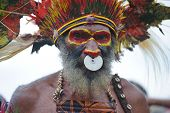 GOROKA, PAPUA, NEW GUINEA - SEPTEMBER 16:  aboriginal at Goroka Tribal Festival. Papua New Guinea on