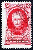 Selo postal Argentina 1910 Cornelio Saavedra