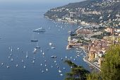 view of bay of Ville Franche sur mer, France