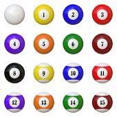 A juego de bolas de billar / pool tema