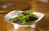 Chinese Snowpea And Mushroom Stir Fry