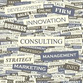 Consulting. Seamless vector pattern.