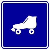 pic of roller-derby  - roller skate sign - JPG
