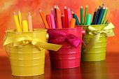 image of non-permanent  - Colorful pencils and felt - JPG