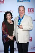 LOS ANGELES - JUN 2:  Winnie Holzman, Paul Dooley arrives at the WGA's 101 Best Written Series Annou