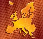 Abstract Europe Eu Map With Country Borders