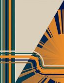 Art Deco Sunburst Background