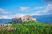 foto of greek-architecture  - Beautiful view of ancient Acropolis Athens Greece - JPG