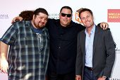 LOS ANGELES - JUN 8:  Jorge Garcia, Greg Grunberg, Chris Harrison at the 2nd Annual T.H.E EVENT at t