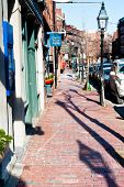 Charles Street At Beacon Hill In Boston, Usa