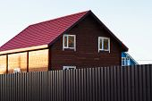 New Wooden Houses In Country