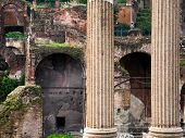 Columns And Ruins On Capitoline Hill, Rome,