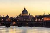 St  Peter s Basilica at dusk