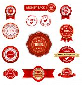 money back labels set