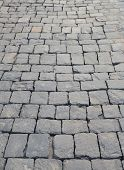 image of cobblestone  - Cobblestone pavement - JPG