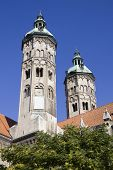 The Two Towers Of Cathedral In Naumburg City, Saxony-anhalt, Germany