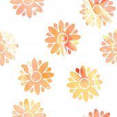 Flowers Seamless Watercolor