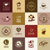 foto of flavor  - Set of different vector icons for coffee - JPG