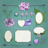 Set Of Lilac Frames