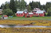 Petersburg Alaska Waterfront Buildings