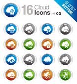 Glossy Buttons - Cloud computing Icons