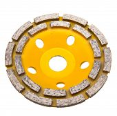 Diamond disk for a concrete abrasion