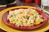 Plate Of Garlic Shrimp Risotto