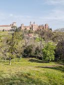 stock photo of neo-classic  - Comillas foundation of the Spanish and Hispanic culture located in Cantabria north of Spain is a neo - JPG