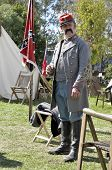 Confederate Soldier In Encampment