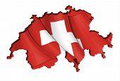 Swiss Map-flag