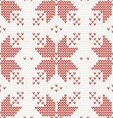 Seamless pattern with Red stars in Norwegian style. vector illustration