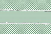 Green Gingham Torn Background For Your Message Or Invitation