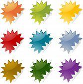 Spiky Stickers