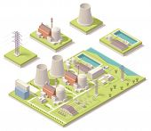 Isometric nuclear power facility