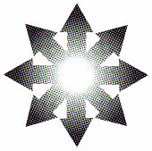 Halftone Arrow Circle