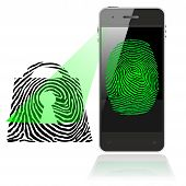 SMART PHONE FINGER PRINT LOCK SCAN