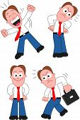 Cartoon Businessman Set