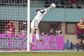 VIENNA, AUSTRIA - DECEMBER 6 Oleandr Groyainov (#29 Metalist) catches the ball on December 6, 2012 i