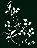 Botanical Background Of Flowers And Leaves