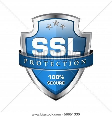 SSL Protection Secure Shield Icon poster
